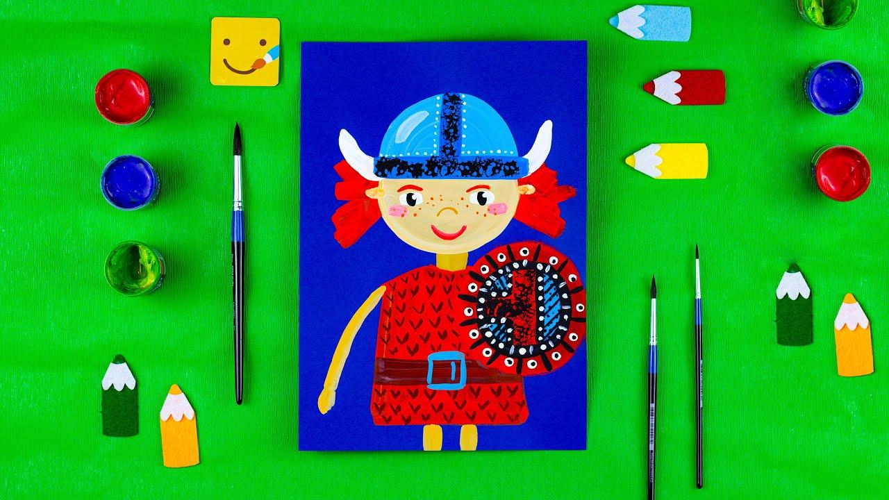 Как нарисовать викинга/ Урок рисования для детей ...