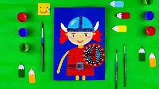 Как нарисовать викинга/ Урок рисования для детей/ Раскраска для детей