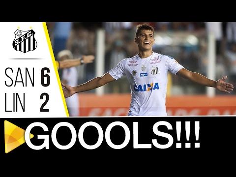Santos 6 x 2 Linense | GOLS | Paulistão (03/02/17)