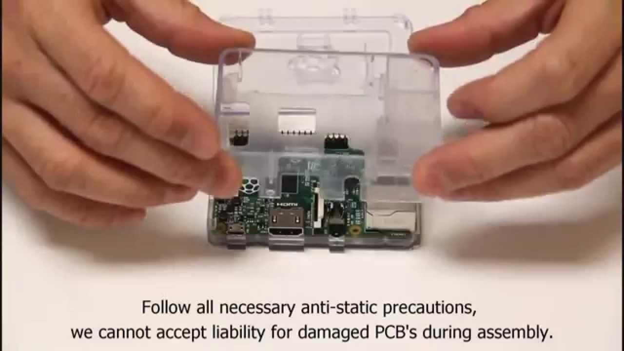 CanaKit Raspberry Pi Case Installation Instructions