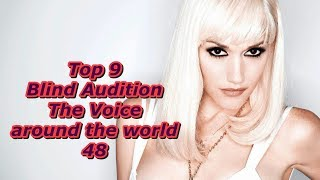 Top 9 Blind Audition (The Voice around the world 48)(REUPLOAD)