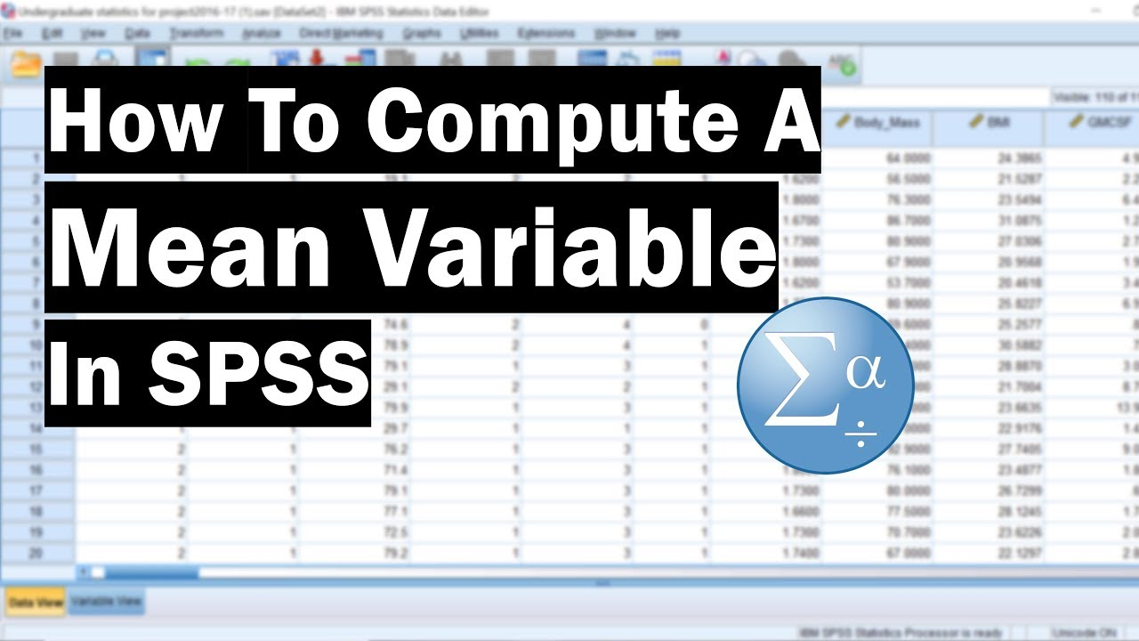 How To Compute A Mean Variable In SPSS
