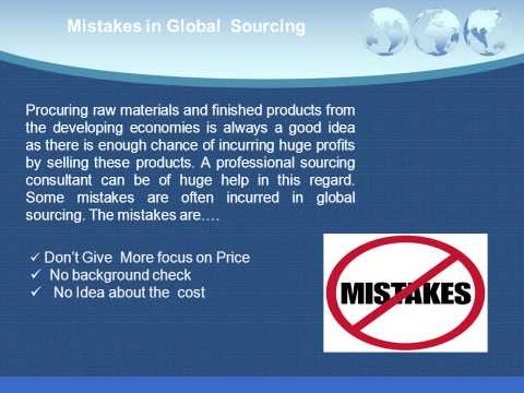 Mistakes of Global Sourcing