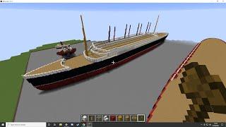 Bri & Rich's Minecraft Creative Ep 84 (Ships N Pixels)