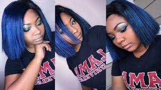 WATCH ME DYE MY HAIR BLUE | Aaliyah Jay Inspired