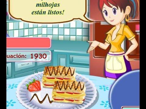 Juegos de cocina con sara casita de jengibre juegos de for Cocina de navidad con sara