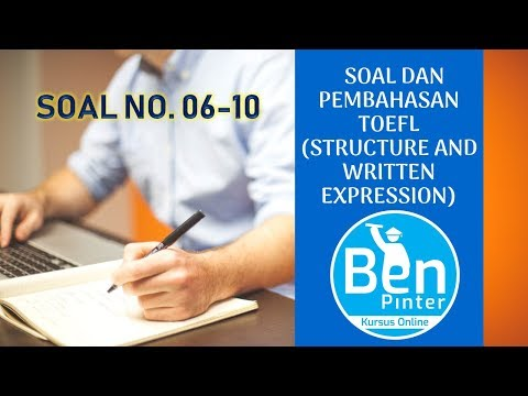 Contoh Soal Toefl Structure And Written Expression Dan ...