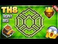 BRAND NEW INSANE TOWN HALL 8 (TH8) TROPHY BASE DESIGN/DEFENSIVE STRATEGY- Clash Of Clans