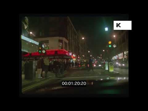 1995 Drive Along Shaftesbury Avenue, London at Night, HD from 35mm | Kinolibrary