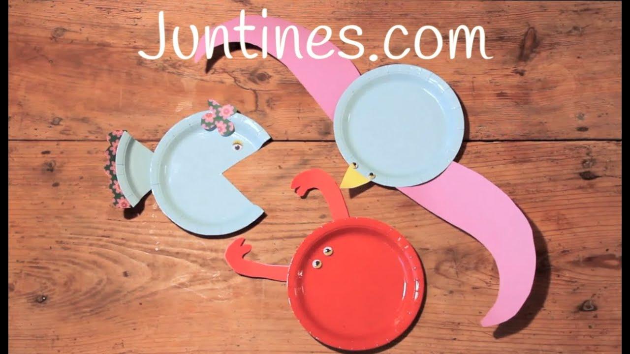 Manualidades de animales para ni os con platos de papel - Manualidades para ninos con papel ...