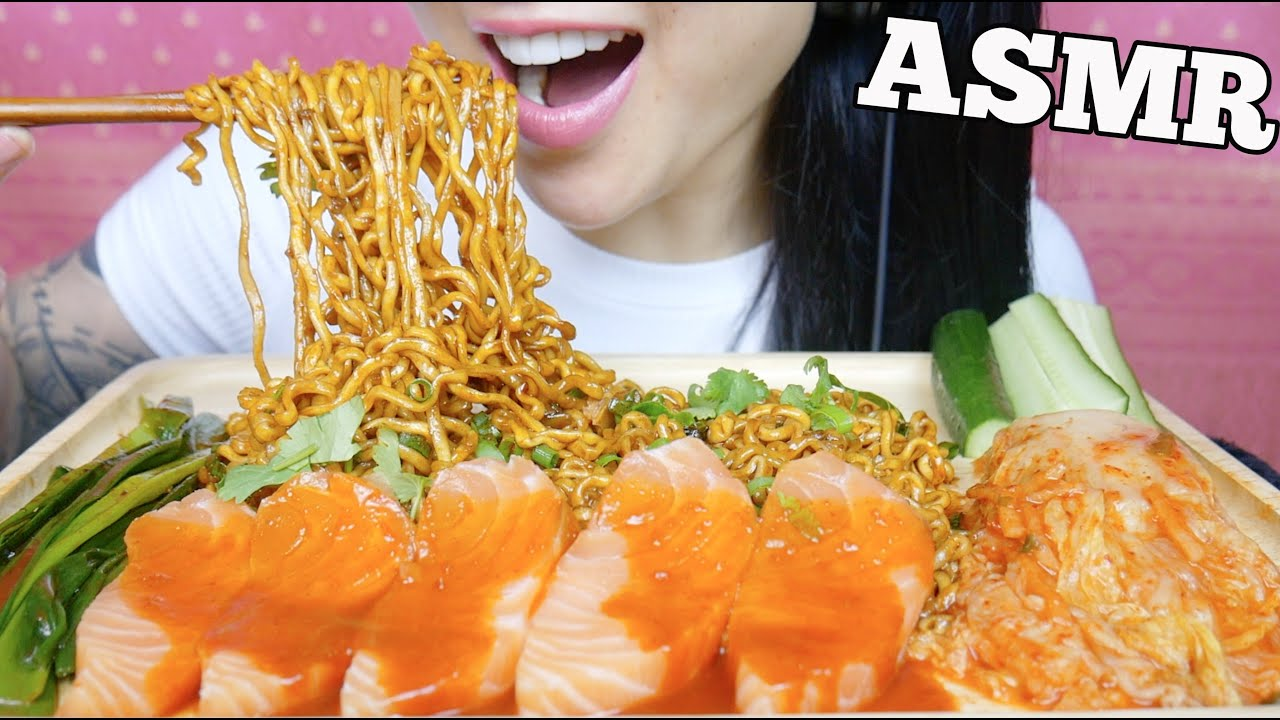 Asmr Spicy Samyang Mala Noodles Salmon Sashimi Kimchi Eating Sounds No Talking Sas Asmr Youtube Check out this biography to know her birthday, family life, achievements and. asmr spicy samyang mala noodles salmon sashimi kimchi eating sounds no talking sas asmr