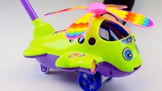 Обзор - распаковка игрушек Каталка вертолёт на палке Арт: 1189
