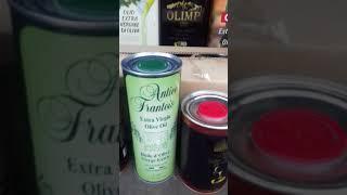 Обзор оливковое масло , какая идёт фасовка!