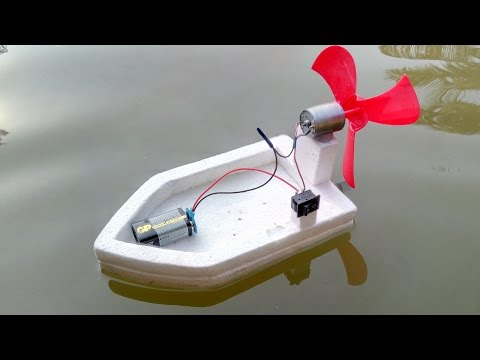 How to make a High Speed Water Boat Using DC Motor thumbnail