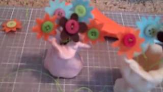 Diy American Girl Flower Vase Craft.
