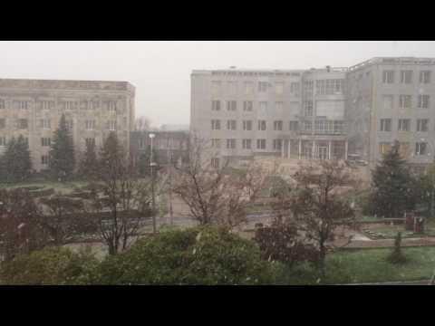 20.04.2017 Апрельский снег в Комрате