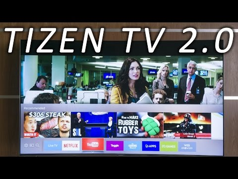 Samsung Tizen TV 2.0 user interface runthrough (KS7500)