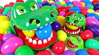 Crocodile flock come out! Crocodile family and spiderman play surprise egg - DuDuPopTOY