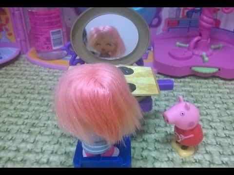 Bajka Świnka Peppa po polsku. Peppa fryzjerka zniszczyła włosy klientce!! Ojoj