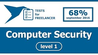 Freelancer - Computer Security - level 1 - test (68%)