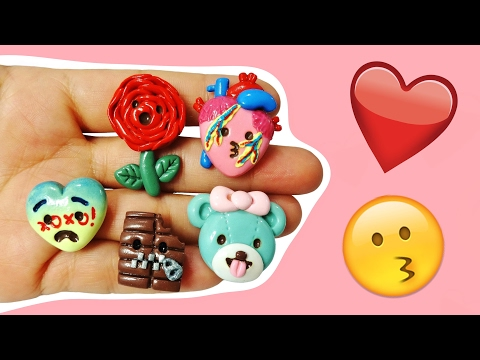 DIY EMOJI LOVE! Polymer Clay Tutorial