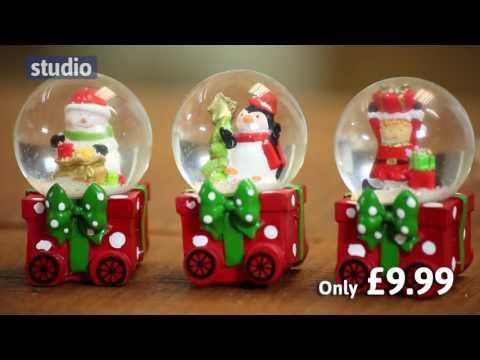 Studio - 4 Piece Christmas Snow Globe Train Set