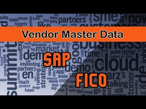 SAP FICO/Account Payable Module Overview | Vendor Master Data | Various Tab