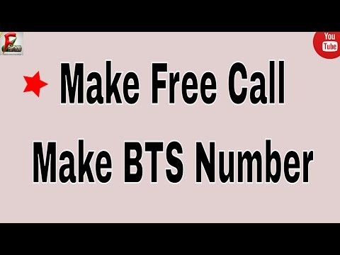 How To Make BTS Or Foreign Numbers By Mobile | Make Free Call And Massage