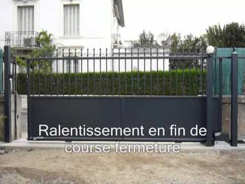 portail coulissant aluminium sib avec automatisme nice 65 bagneres tarbes lourdes youtube. Black Bedroom Furniture Sets. Home Design Ideas