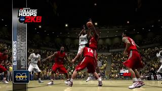NCAA College Hoops 2k8 PS3 720p 60fps Gameplay Video No Commentary