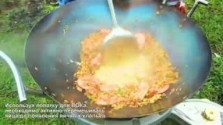 Рецепты. Тайский жареный рис с овощами и креветками