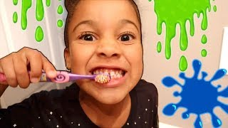 SLIME Night Time Routine | FamousTubeKIDS