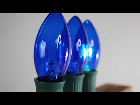 Blue C9 Twinkle Bulbs   Incandescent