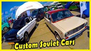 Custom Classic Soviet Cars ZAZ 968 80s, ZAZ 966 70s, LADA VAZ 2101 80s Review. Custom Cars Show