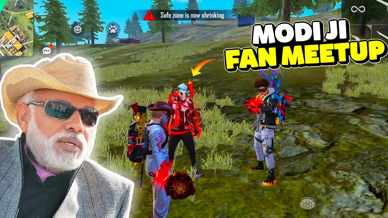 AmitBhai Fan Meetup In Free Fire Ft. Modi Ji || Desi Army