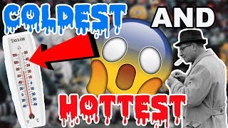 What Are The COLDEST and HOTTEST NFL Games EVER??