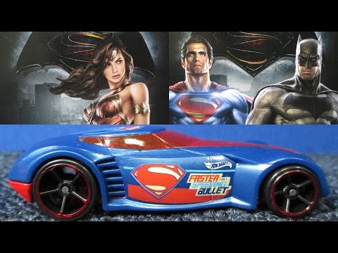 Batman V Superman Dawn Of Justice Hot Wheels Cars Complete Set Including Chase Piece