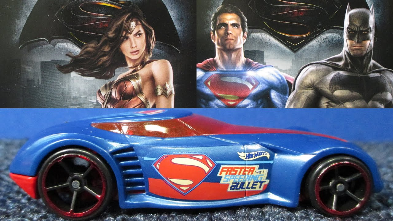 Batman V Superman Dawn Of Justice Hot Wheels Cars Complete Set Including  Chase Piece   YouTube