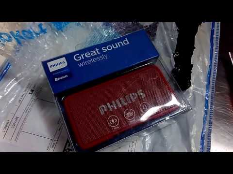 Philips Bluetooth Speaker BT 64R Unboxing and First Review
