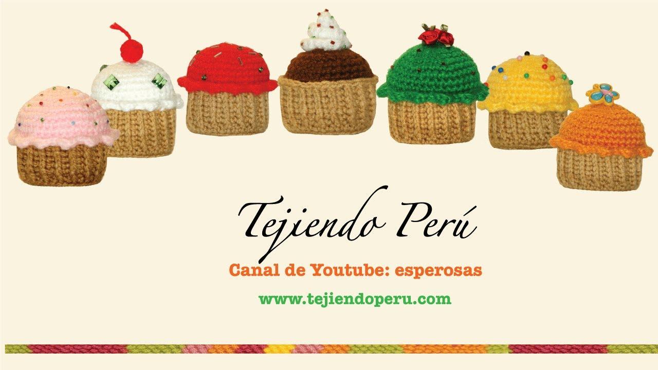 Cupcakes o pastelitos tejidos en crochet (amigurumi) - YouTube