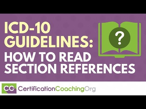 ICD 10 Guidelines: How to Read Section References