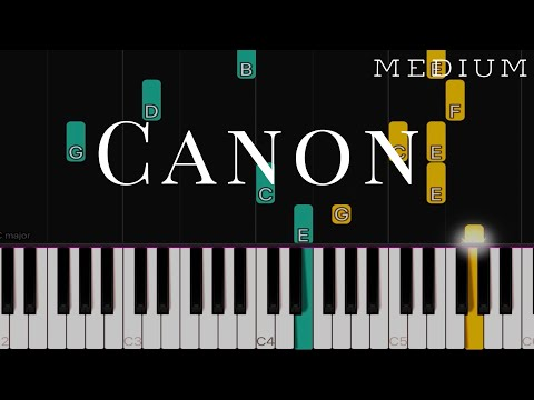Canon In C - My Sassy Girl | MEDIUM Piano Tutorial
