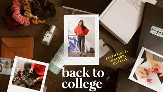 Back to College Essentials, Outfits, & Makeup