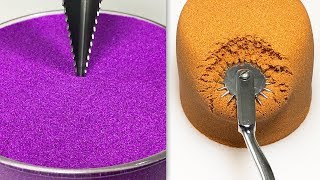 Very Satisfying and Relaxing Compilation 124 Kinetic Sand ASMR