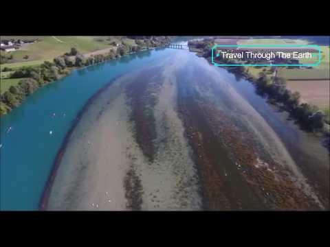 Drone flight at lake Wohlen (wohlensee) Switzerland