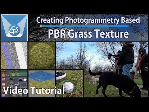 Environment PBR Texture Creation using Photogrammetry - Grass