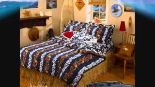 Hawaiian Comforter by Surf Room Designer Dean Miller