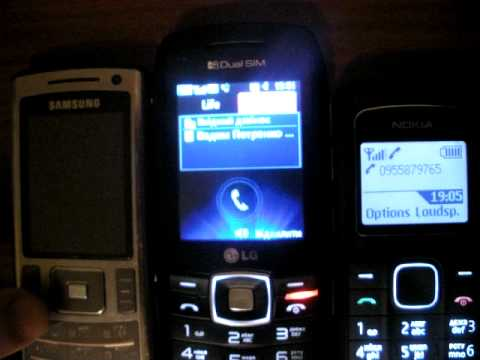 Работа двух сим карт LG GX 300
