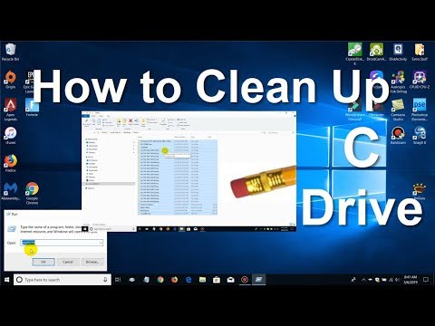 How to Get more Computer space  and Clean Up C Drive In Windows 10 Easy