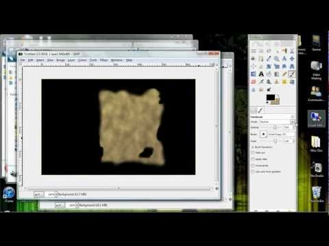 How to make burnt crumpled paper in Gimp (Tutorial) thumbnail